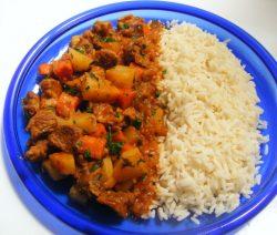 Arabische lamsragoût met rijst