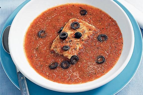 Mediterrane groente-vissoep