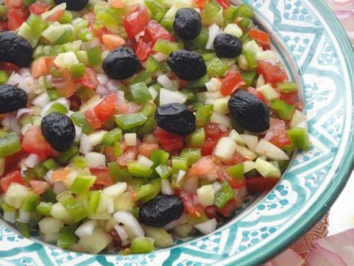 Marokkaanse tomaten paprika salade