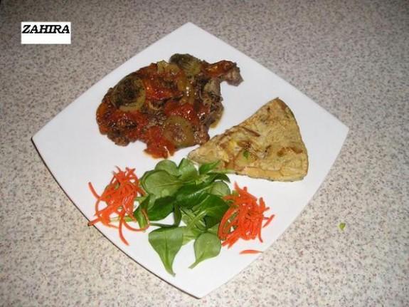 Lams karbonade stoofschotel met tortilla