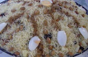 Het beroemde Marokkaanse Seffa medfouna met kip