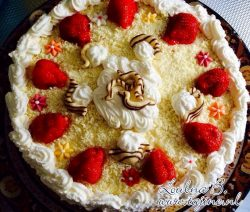 Recept Aardbeien slagroomtaart - taart der taarten
