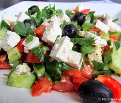 Turkse komkommer salade