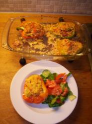 Gevulde paprika's met couscous
