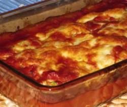 Lasagne met room