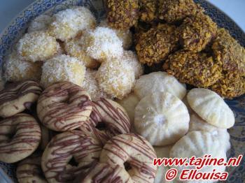 Vier soorten koekjes uit 1 deeg
