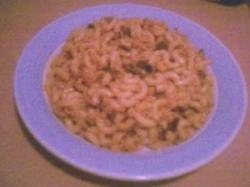 Macaroni met fijngesneden prei