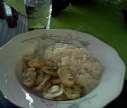 Gemarineerde Champignons met rijst