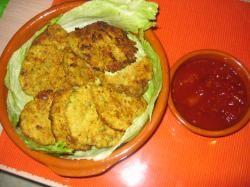 Shnieula s zelfgemaakte kipburgers
