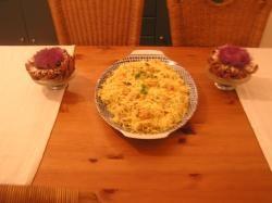 Roerbakmie met kipfilet en garnalen