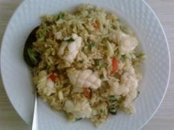 Thaise rijst met inktvis