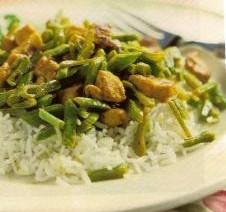 Rijst met Kip en Sperziebonen