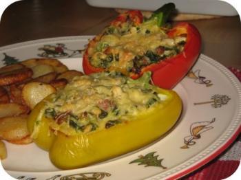 Snelle gevulde overheerlijke paprika