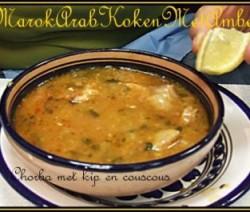Chorba met kip en couscous