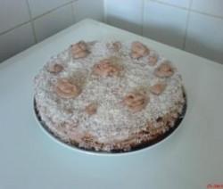Chocolade-slagroom cake.