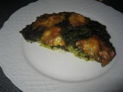 Ovenschotel met aardappel en spinazie