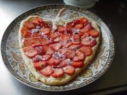 Aardbeien-plaattaart