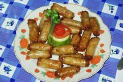 Bladerdeeg met gehakt en aardappel