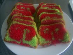 Twee kleuren cake