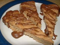 Amandel-shortbread met Chocolade-dipping