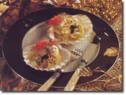 Coquillage gevuld met vis