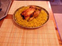 Gevulde kip met rijst uit de oven