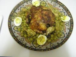 Gebraden kip met olijven