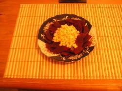 Simpele Rode bietensalade met mais
