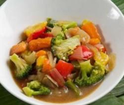 Gebakken groente met oestersaus