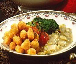 Gevulde aardappelballetjes met gehakt