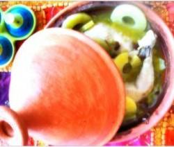 Heerlijke kiptajine met ananas en abrikozen