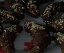 Chocolade hazelnoot maantjes