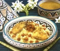 Zoete couscous met kip