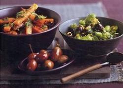 Wortelsalade en olijvensalade