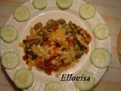 Pasta-ovenschotel met gehakt en spinazie