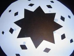 Papieren vorm voor poedersuikerdecoratie op cakes