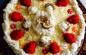Slagroomtaart - Aardbeien