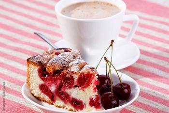 Romige kersen taart