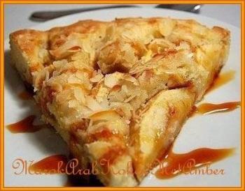 Appelcake met geschaafde amandelen