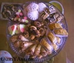 Verschillende Marokkaanse koekjes