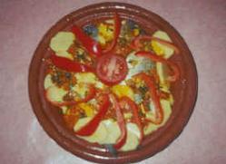 Tagine van kabeljauw met groenten