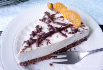 Witte chocolade kwarktaart