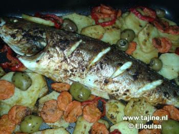 Zeebaars in de oven