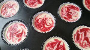 Mini-cheesecakes met frambozenswirl bereiding