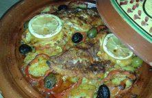 Marokkaanse Vistajine met roodbaarsfilet of andere visfilets
