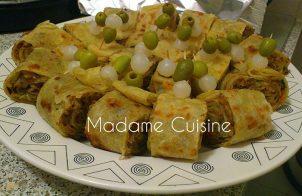 Marokkaanse Gerolde en gevulde msemmen recept
