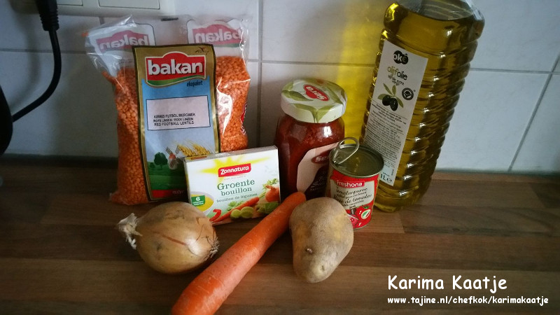 Biologisch Turkse linzensoep ingrediënten