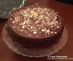Chococake overgoten met ganache in vijf minuten staat ie in de oven 1