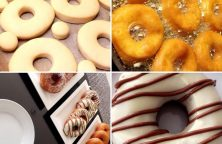 Donuts met chocolade topping