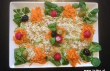 Eigen gezonde bulgur salade met tonijn